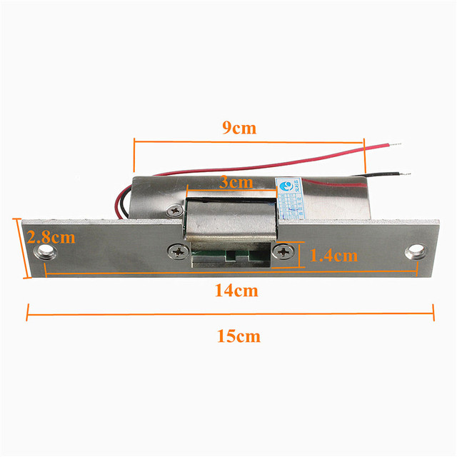 NEW Stainless Door 12V DC Fail Safe NO Narrow-type Door Electric Strike Lock For Access Control Power Locks Security Safely