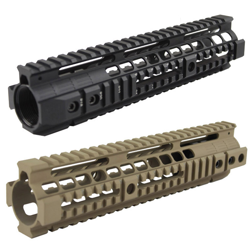 Hot Sale Tactical Handguard Rail System 10 inch handguard rail Mount for Airsoft AEG M4 /M16 AR-15 Black/ TAN