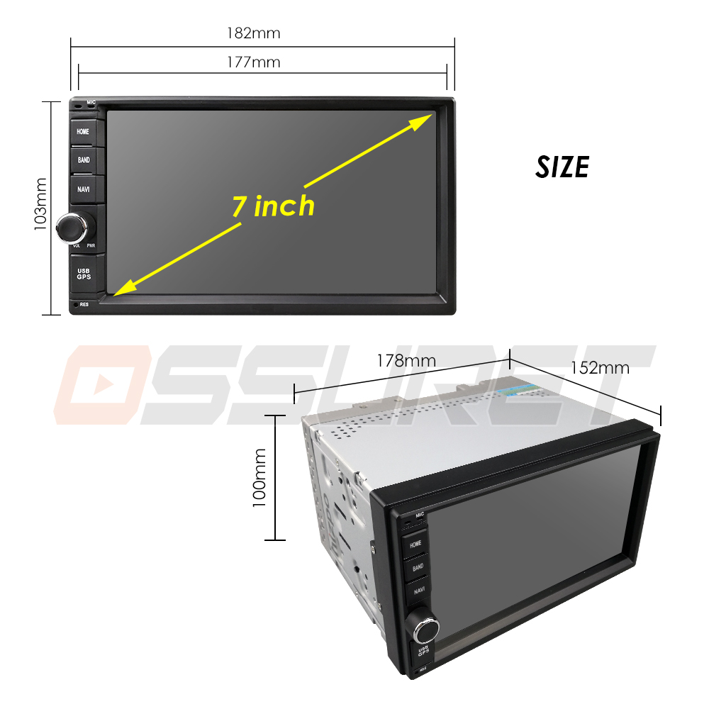 Image 5 - 2G RAM Android 9.0 Auto Radio Quad Core 7Inch 2DIN Universal Car NO DVD player GPS Stereo Audio Head unit Support DAB DVR OBD BT-in Car Multimedia Player from Automobiles & Motorcycles