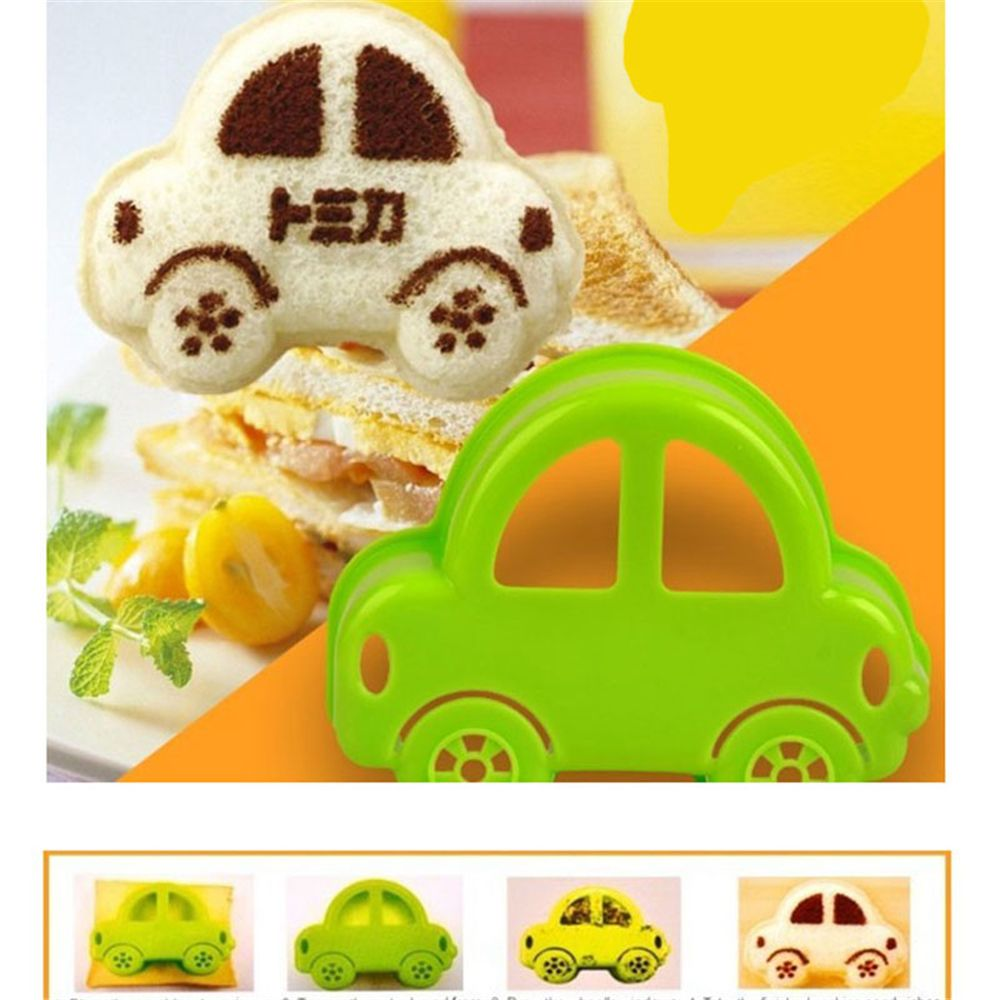 1 pcs Cool Car Shape and Cute Rabbit Shape Cookie Mould Children Sanwish Bread Mold Plastic DIY Homemade Cookie and Cake Cutters