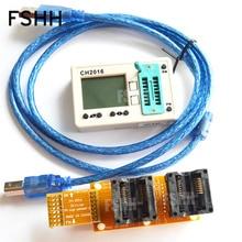 USB SPI FLASH programmer CH2016 + 300mil SOP16 + SOP16 тестовая розетка 1 drag 2 programmer