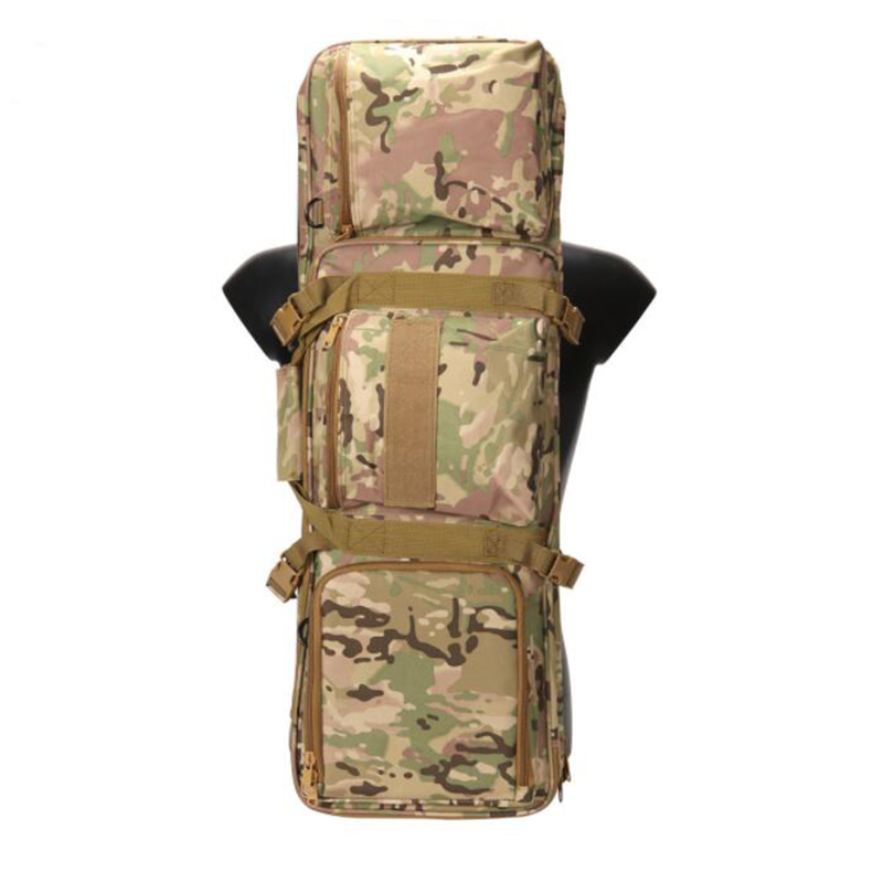 1000D Military Nylon Backpack Rifle Case 85cm Camouflage Tactical Gun Bag Hiking Camping Outdoor Sport Shoulder Bag in Hunting Bags from Sports Entertainment
