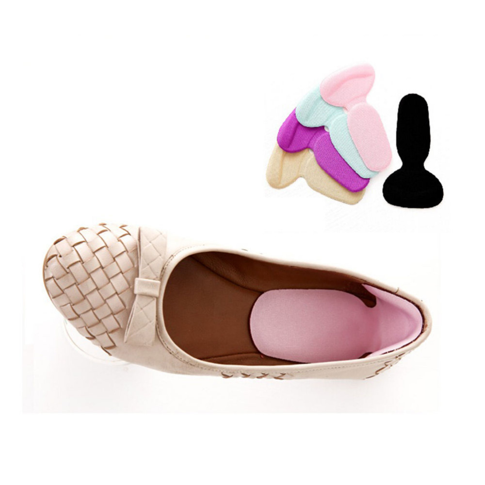1 Pair Soft Silicone Multicolor Insole Pads High Heel Gel Foot Care Protector Anti Slip Cushion Shoe Insert Dance 1 pair back heel high quality lining silicone gel anti slip shoe insole pads cushion to protect feet from blisters and pain in t