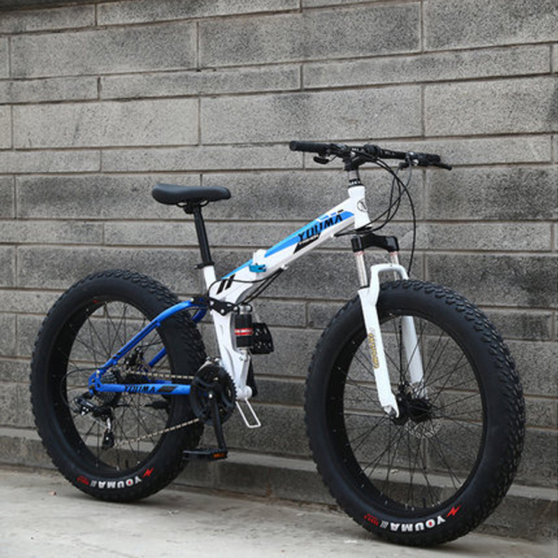 Snowmobiles Mountain Bike 24 Inches 21 Speed Spoked Wheel 4.0 Widened Tires Both Men And Women