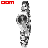 DOM women's watches luxury brand waterproof quartz Wrist watch Tungsten steel gold nurse watch bracelet Ladies Watch clock W735
