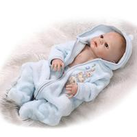 NPK Bebes reborn boy dolls 23 real silicone reborn dolls toys for children gift baby alive BJD doll bald head reborn bonecas