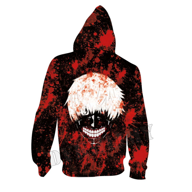 Kaneki Ken Tokyo Ghoul 3D Hoodie