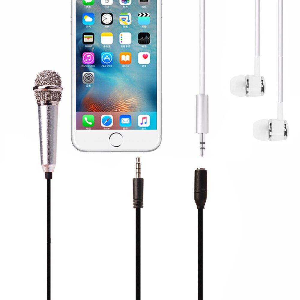 Metal MINI Jack 3.5mm Studio Professional Microphone Handheld Mic for Mobile Phone Computer for iPhone ipad karaoke (2)
