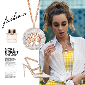 Image 5 - CDE Fashion Luxury Women Necklace Pendant crystals from Swarovski Tree of Life Jewelry Sweet Romance Christmas Gift