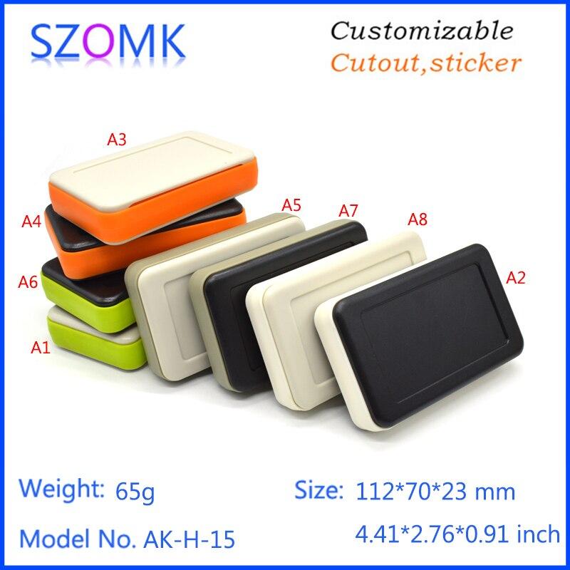 10 pcs szomk small plastic case for electronic equipment 112 70 23mm plastic housing for enclosure