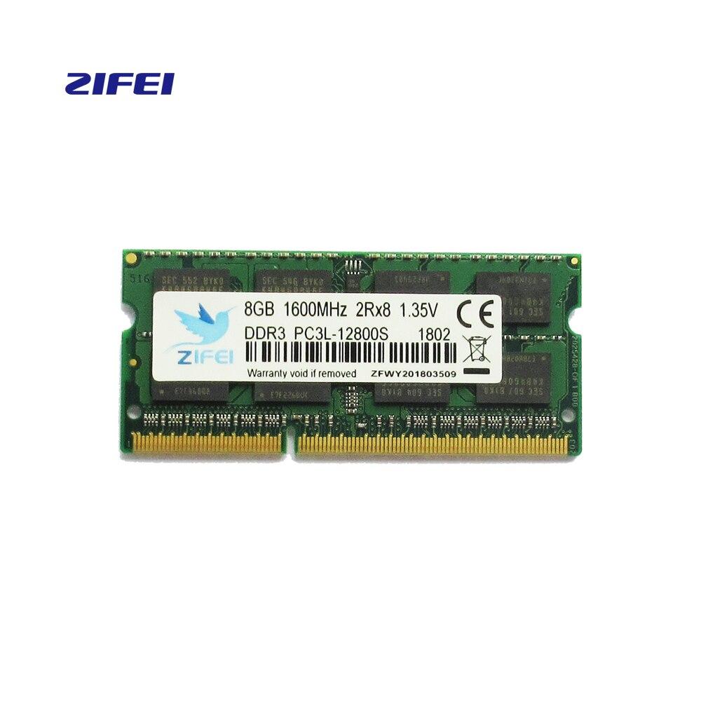 ZIFEI Mémoire RAM ddr3l fonctionnement mémoire 2G 4G 8G Ordinateur Portable DDR 1600 Memoria DRAM Bâton pour Ordinateur Portable