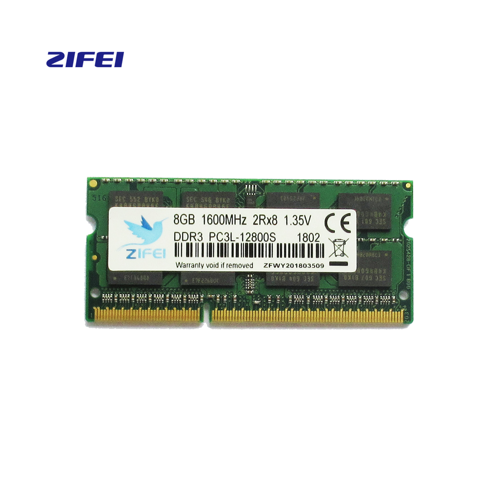ZIFEI funzionamento Memoria RAM ddr3l memoria 2G 4G 8G Laptop DDR 1600 Memoria DRAM Stick per Notebook