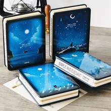 """""""Silent Night"""" Cute Metal Cover Journal Study Notebook Kawaii Diary Freenote Stationery Gift"""