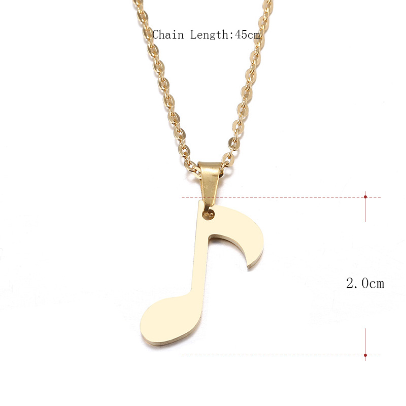 Hibobi Stainless Steel Necklace Women Jewelry Music Symbol Trendy Necklaces Pendants Donot Fade Valentine's Day Gift (3)