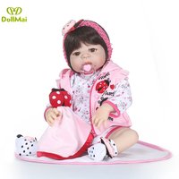 Full silicone 2357cm Reborn babies doll bebe alive strawberry stylish Toddler educational Toys Handmade gifts collection