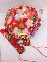 Ручной работы шпильки хлопчатобумажной ткани зажим для волос заколки японский Стиль аниме Косплэй Интимные аксессуары прекрасный свадебн