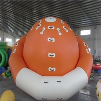 water gyro 3.5*2.1M water game playing inflatable toy summer water park used, water toys