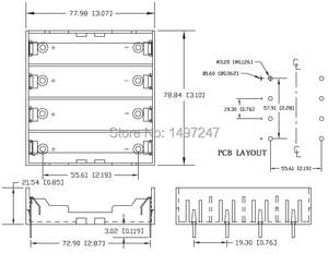 Image 4 - 4 sztuk/partia 18650 uchwyt baterii czarny plastik 4x3.7 V 18650 baterie 8 Pin TBH 18650 4A P