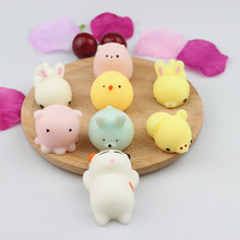 25Pcs Set Lot Slow Rising Kawaii All Kinds Of Cute Animal Squeeze Hand Soft Toy Decoration Novelty Gags Anti Stress Random