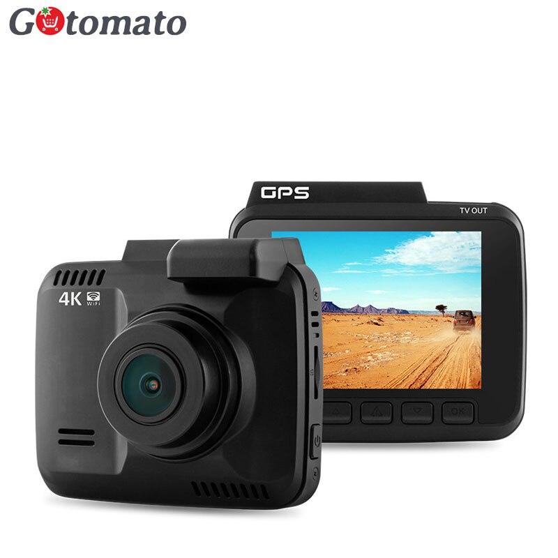 imágenes para Gotomato WIFI Cam Dash Coche DVR Novatek 96660 Chip GPS Logger HDMI Ultra HD 4 K 2880*2160 P coche Cámara Grabadora de Vídeo