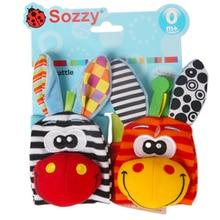 Sozzy Baby Rattle-Set Educational-Toys Plush-Toys Foot Gift Newborn Development Soft