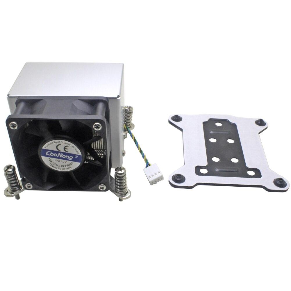 2U serveur refroidisseur de processeur Base en cuivre en aluminium aileron radiateur ventilateur de refroidissement pour Intel 1155 1156 1150 1151 poste de travail informatique industriel