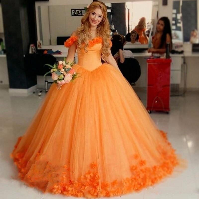 Robe De Mariage Plus Size Orange African flowers wedding Dresses ...
