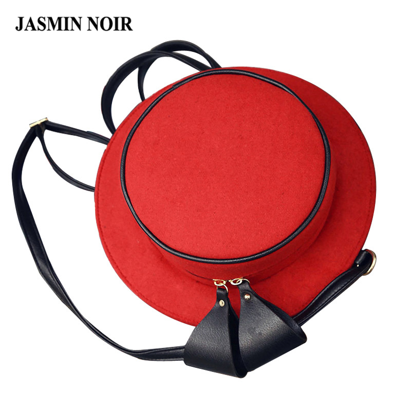 New Korean cute woolen hat shape Women crossbody bag back Bag Messenger bag bow multifun ...