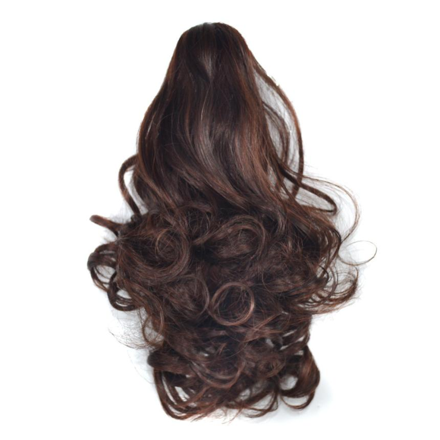 women's wig Claw Thick Wavy Curly Short Ponytail Horsetail ...