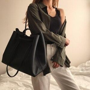 Image 1 - Moda PU deri kadın omuz çantaları marka çanta kadın kova çanta tasarımcısı askılı çanta yüksek kalite kadınlar Mujer Bolsas