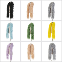 Fashion 2 meters High quality 10ply Thick Ostrich feather boa width 28 30cm Ostrich Strip Wedding Party Dance Show Decoration