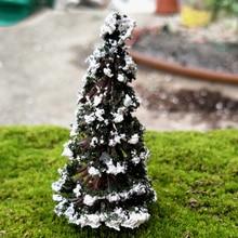 Resina Figuras de Árvores de Natal Em Miniatura Casa de Bonecas Estatueta De Fadas Jardim Kids Brinquedos DIY Acessórios Micro Paisagem