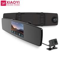 YI Mirror Dash Camera Dual Core CPU Car DVR 3D Noise Reduction IPS Touch Screen Front Rear View G Sensor HD Dashboard Camera