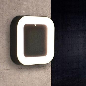 BEIAIDI Moderna A Led per Esterni Lampada Da Parete 12 W Surface Mounted Giardino Balcone Applique Da Parete Impermeabile Villa Giardino Portico applique da Parete