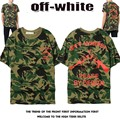 2017 High Quality Off White T Shirts Men Women General C/o Virgil Abloh Camouflage Printed Broken Gun OFF White T Shirts Top Tee