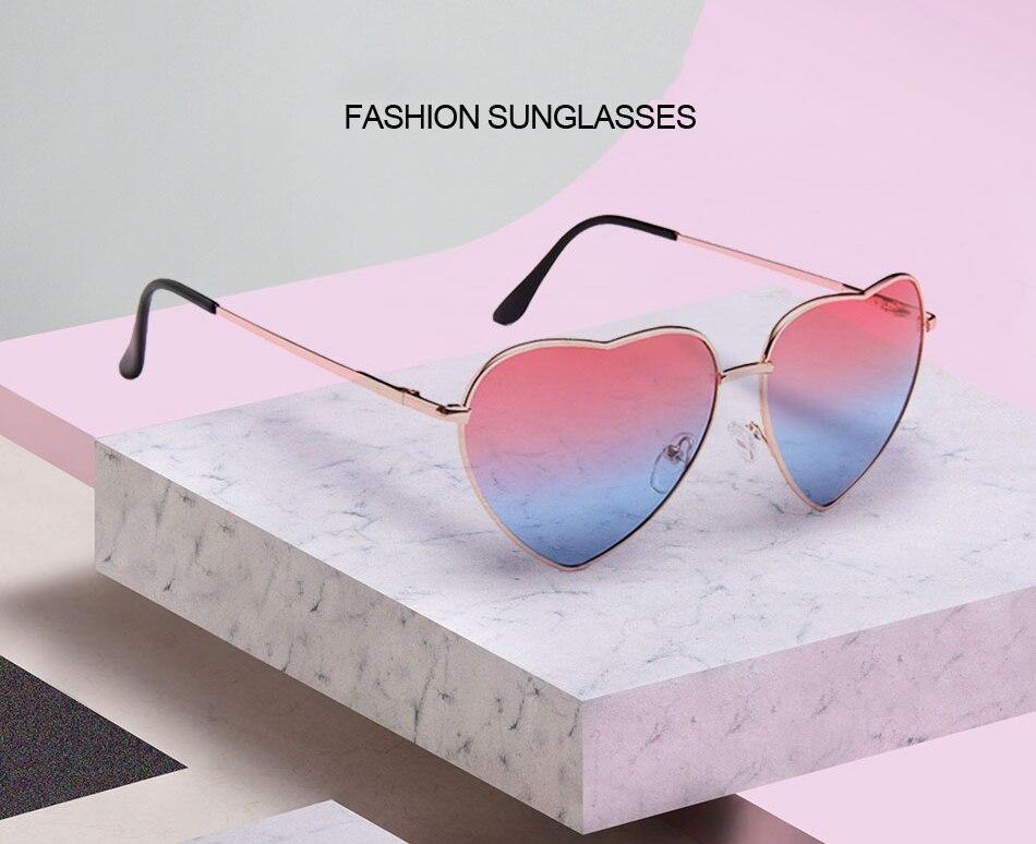 9c6d32527 SIMPLESHOW نظارة شمس على شكل قلب النساء الإناث نظارات شمسية كلاسيكية ...