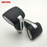 1PCS Gear Shift Knob New Automatic Transmission Leather+Chrome For Toyota Camry for Rav4 for Corolla Ex Gear Head CAR