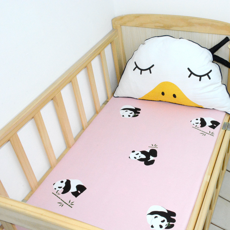 2016 New cute Baby Crib Bedding Sheet Cartoon Cot Bed Junior Bed Baby Bed Fitted sheets mattress cover clouds tree stars pattern