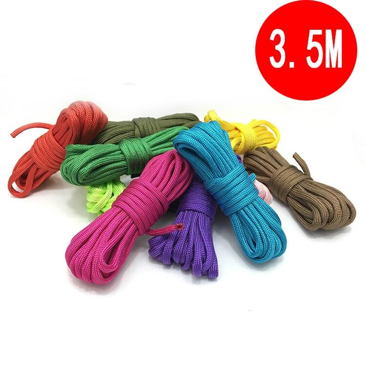 [300 meters/partij] kleuren paracord nylon 4mm Parachute Survival Touw DIY handen armbanden Accessoires - 2