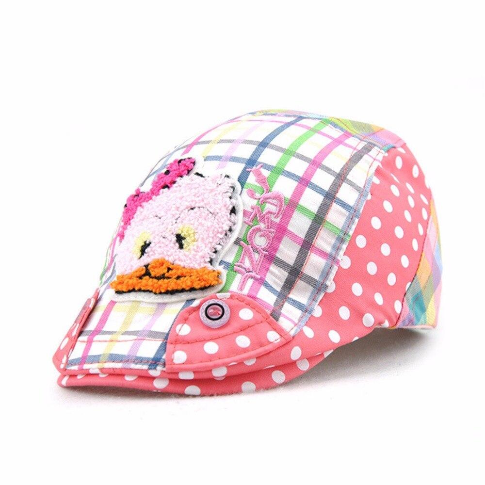 Fashion Duck Kids Beret Hats Duckbill Casquette Boina Buckle Visors Golf Driving Flat Detective Hat Casquette Newsboy Cap 2018