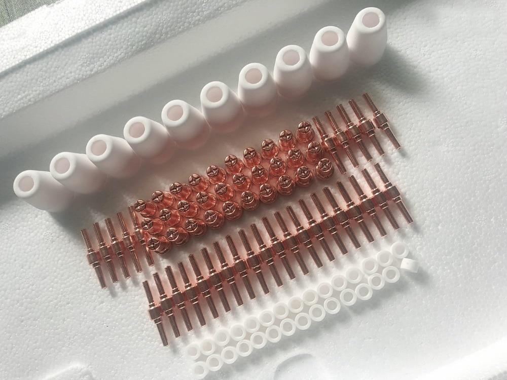 PT31 LG40 Air Nozzle Plasma Cutting nozzle iron Torch plasma Consumables Extended nozzle plasma welder electrode 100pcs