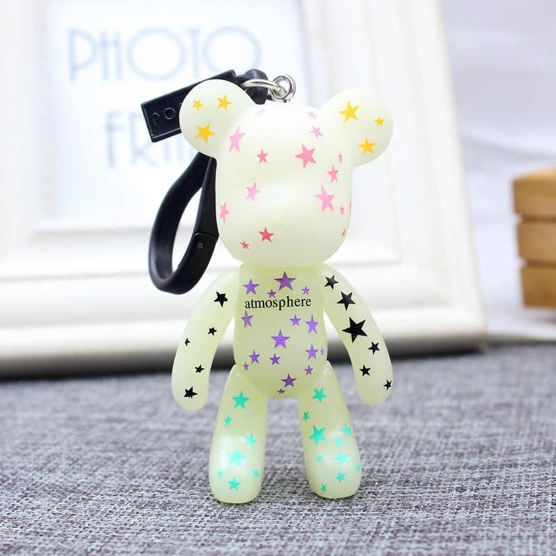 2019 Coreano teddy bear chaveiro criativo dos homens das senhoras da cadeia de anel chave do carro crianças presentes Chaveiro Para mulheres Jóias