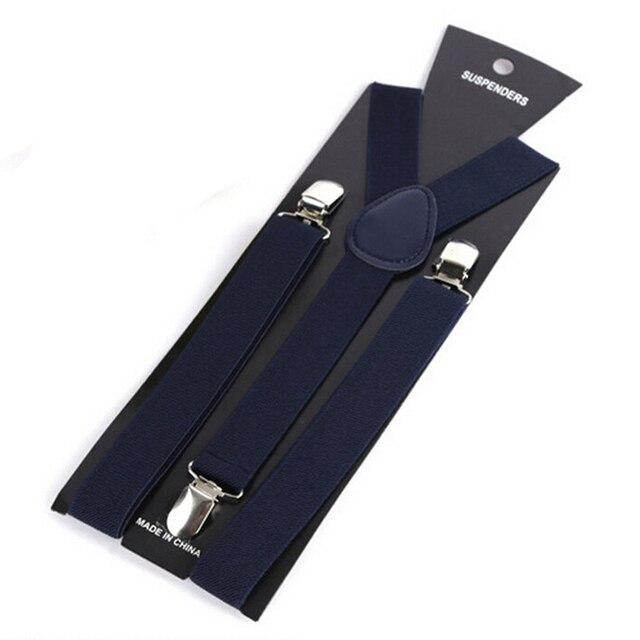 More Color For Choose New Mens Womens Unisex Clip-on Suspenders Elastic Y-Shape Adjustable Braces Colorful- 0055 6