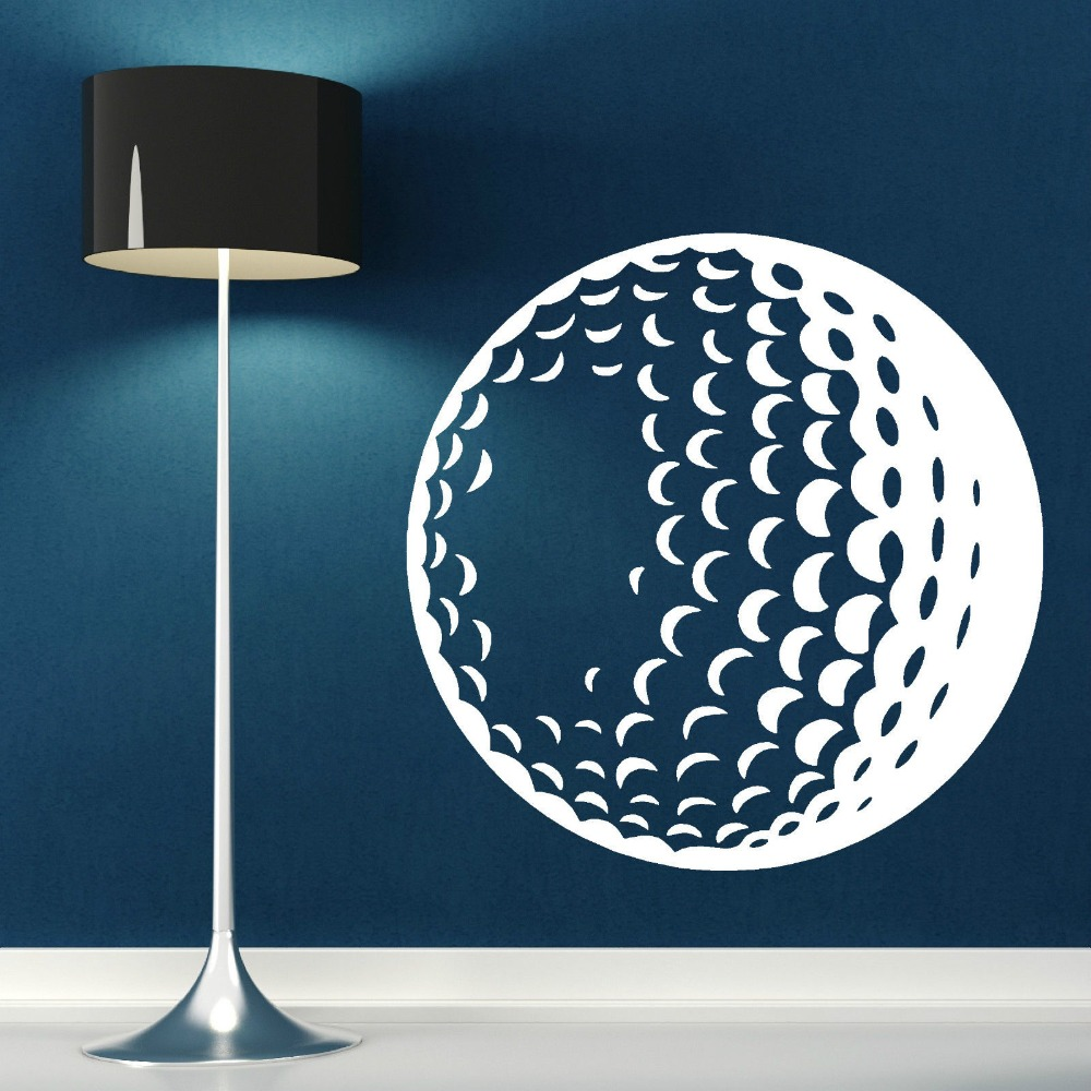 3D Ansichten Golfball Vinyl Kunst Wandbild Home Wohnzimmer ...