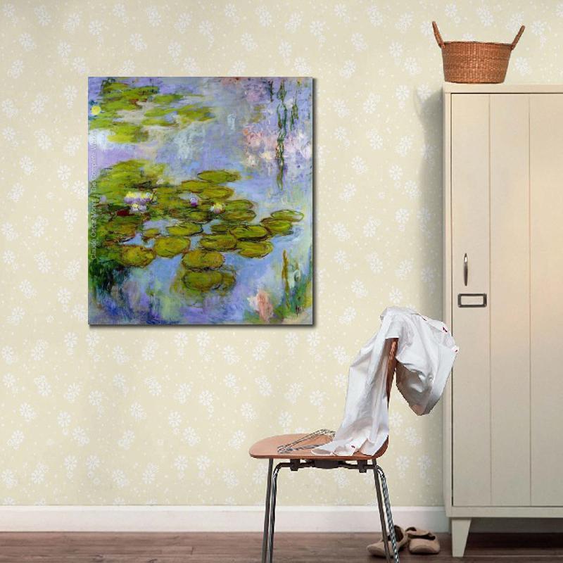Alta calidad Claude Monet arte moderno de agua lirios 38 ...