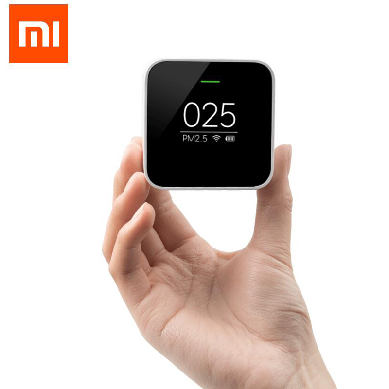 2016 Original font b Xiaomi b font Smart PM2 5 Air Detector Portable OLED screen Wifi