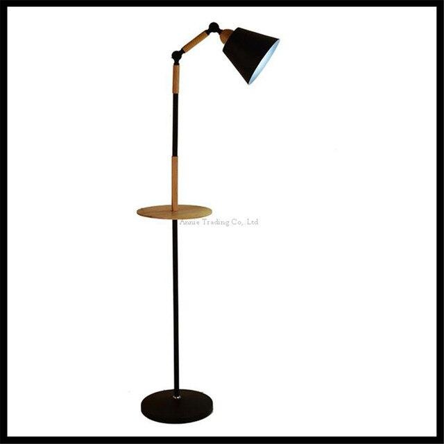 Nero Bianco Nordic lampada da terra In Legno camera dei bambini ...