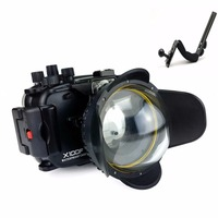 Seafrogs 40m/130ft Underwater Camera Housing Case For Fujifilm X100F Camera+MEIKON 67mm Fisheye Lens+Aluminium Diving handle