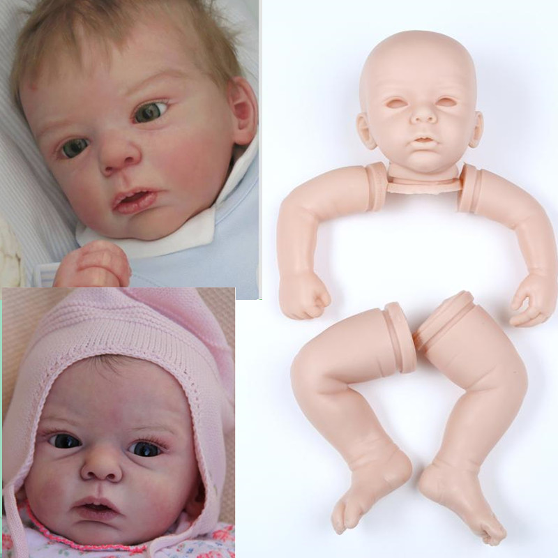 soft vinyl reborn doll accessories silicone reborn dolls kits vinyl DIY wholesale unpainted blank Doll Part Unfinished Art Works lifelike soft vinyl unpainted reborn doll kits 11 inch full vinyl boy doll anatomically correct soft vinyl reborn doll kits