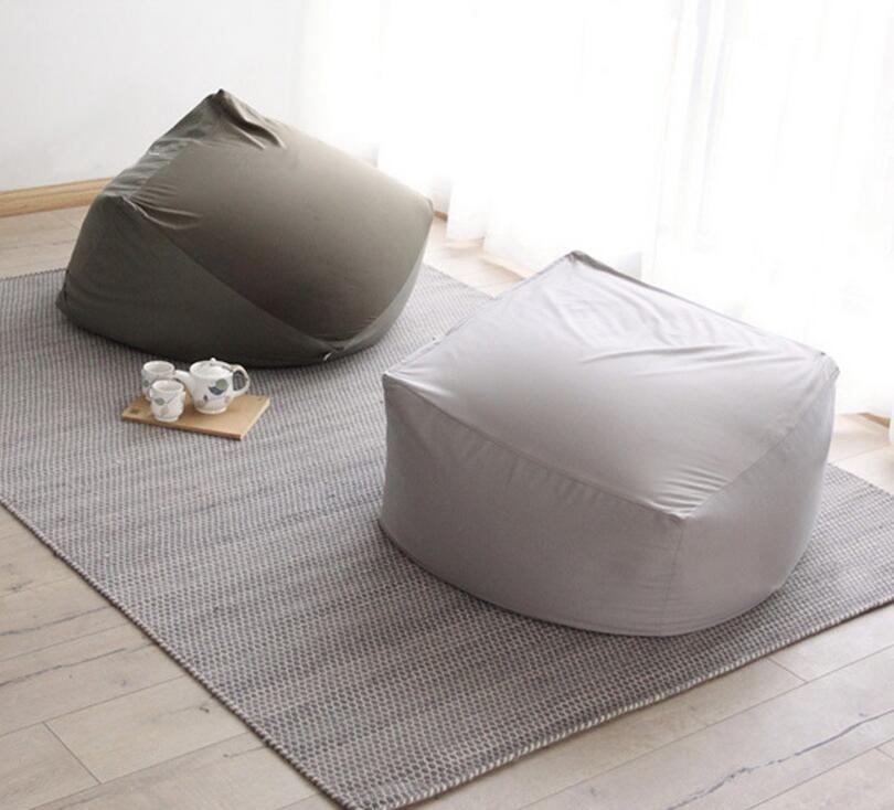 Cover Only No Filler  75cm X 75cm X 46cm Living Room Bean Bag Chair, Large  Beanbag Garden Recliner Sofa, Big Portble Cushion